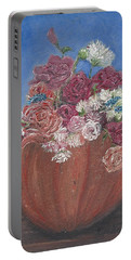 Autumn Petals Portable Battery Charger