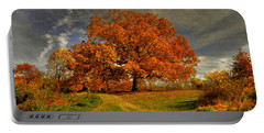 Autumn Picnic On The Hill Portable Battery Charger by Lois Bryan