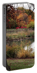 Autumn Pond In Maryland Portable Battery Charger