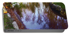 Autumn Reflection Pond Portable Battery Charger