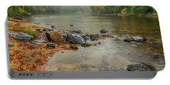 Autumn Rain Gauley River Portable Battery Charger by Thomas R Fletcher