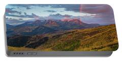 Autumn Rainbow Over Mount Timpanogos Portable Battery Charger