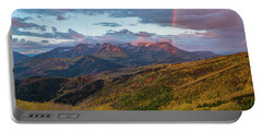 Autumn Rainbow Over Mount Timpanogos Portable Battery Charger