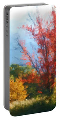 Autumn Red And Yellow Portable Battery Charger by Smilin Eyes  Treasures