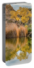 Autumn Reflection At Boyce Thompson Arboretum Portable Battery Charger