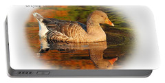 Portable Battery Charger featuring the photograph Autumn Reflection by Debbie Stahre