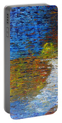 Portable Battery Charger featuring the painting Autumn Reflection by Jacqueline Athmann