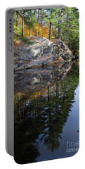 Autumn Reflections At Runaround Pond In Durham Maine  -20224 Portable Battery Charger