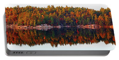 Portable Battery Charger featuring the photograph   Autumn Reflections by Debbie Oppermann