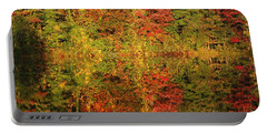 Autumn Reflections In A Pond Portable Battery Charger