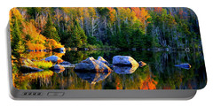 'autumn Reflections - Noyes Pond' Portable Battery Charger