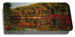 Autumn Reflections On The Clarion River Portable Battery Charger