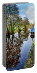Autumn Reflections On  The Leeds Liverpool Canal Portable Battery Charger