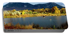 Autumn Rest Stop For Canadian Geese Portable Battery Charger