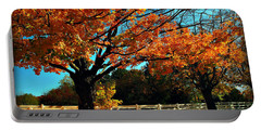 Portable Battery Charger featuring the photograph Autumn Rows by Joan  Minchak