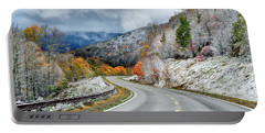Autumn Snow Highland Scenic Highway Portable Battery Charger