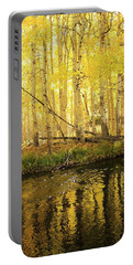Autumn Soft Light In Stream Portable Battery Charger