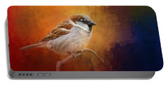 Autumn Sparrow Portable Battery Charger by Jai Johnson