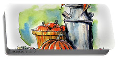 Portable Battery Charger featuring the painting Autumn Still Life 2 by Terry Banderas