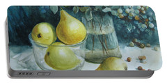 Portable Battery Charger featuring the painting Autumn Still Life 3 by Elena Oleniuc