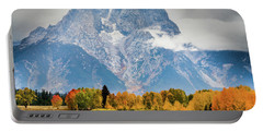Autumn Storm Over Mount Moran Portable Battery Charger