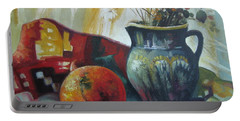 Portable Battery Charger featuring the painting Autumn Story by Elena Oleniuc