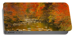 Portable Battery Charger featuring the photograph Autumn Stream by Geraldine DeBoer