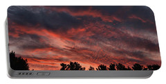 Portable Battery Charger featuring the photograph Autumn Sunet by Kenny Glotfelty