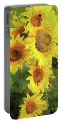 Autumn Sunflowers Portable Battery Charger by Tina LeCour