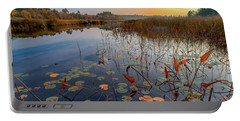 Autumn Sunrise At Compass Pond Portable Battery Charger