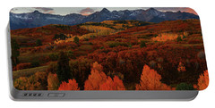 Portable Battery Charger featuring the photograph Autumn Sunrise At Dallas Divide In Colorado by Jetson Nguyen