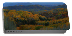 Autumn Sunrise At Rainbow Ridge Colorado Portable Battery Charger by Jetson Nguyen