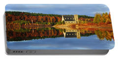 Autumn Sunrise At Wachusett Reservoir Portable Battery Charger