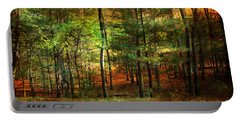 Autumn Sunset - In The Woods Portable Battery Charger by Judy Palkimas
