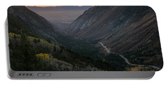 Autumn Sunset View Of Little Cottonwood Portable Battery Charger