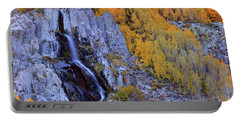 Autumn Surrounds Mist Falls In The Eastern Sierras Portable Battery Charger