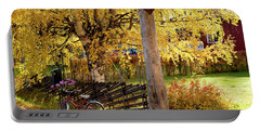 Rural Rustic Autumn Portable Battery Charger