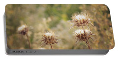 Autumn Thistles Portable Battery Charger