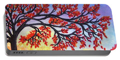 Portable Battery Charger featuring the painting Autumn Tree by Sonya Nancy Capling-Bacle