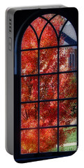 Autumn View Thru A Picture Window Portable Battery Charger