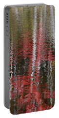 Portable Battery Charger featuring the photograph Autumn Water Color by Susan Capuano