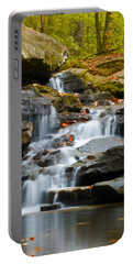 Autumn Waterfall Portable Battery Charger by Shelby  Young