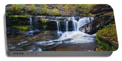 Portable Battery Charger featuring the photograph Autumn Waterfall by Steve Stuller