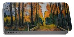 Autumn Way Portable Battery Charger by Ron Richard Baviello