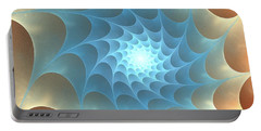Portable Battery Charger featuring the digital art Autumn Web by Anastasiya Malakhova
