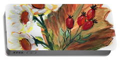 Autumn Wild Flowers Bouquet Portable Battery Charger