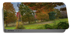 Portable Battery Charger featuring the photograph Autumn Windmill by Bill Wakeley