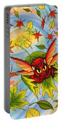 Autumn Winds Fairy Cat Portable Battery Charger