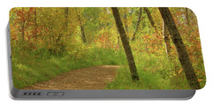 Autumn Woodlands Portable Battery Charger by Jim Sauchyn