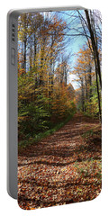 Autumn Woods Road Portable Battery Charger